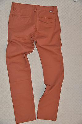 New Quiksilver Boys Straight Pants Trouser Chinos Burnt Sienna EQBNP03038 14 Yrs 6