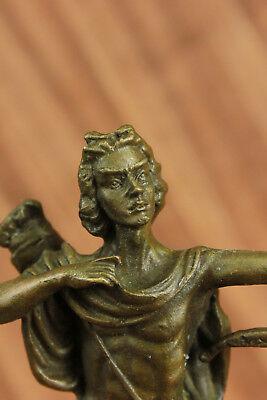Apollo Dios de Bronce Libro Escultura Figura Figura Lost Cera Método Venta 9