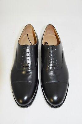 MAN-9eu-10us-OXFORD CAPTOE-FRANCESINA-BLACK CALF-VITELLO-LEATHER SOLE