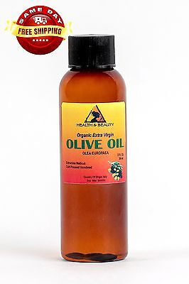 Olive Oil Extra Virgin Organic Unrefined Raw Cold Pressed Premium Pure 2 Oz 4