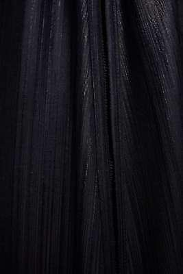 7568//474 ZARA NEW AW18 SHINY DRESS V-NECK LONG SLEEVES BLACK SIZES S M L Ref