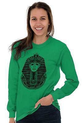 Ancient Egyptian Pharaoh Shirt   Mystic Scarab Symbol Tarot Long Sleeve Tee 3