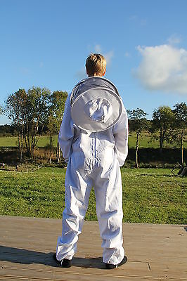 White Apiary Additions Beekeeping Bee Suit with Round Veil - All Sizes - 260gsm 6