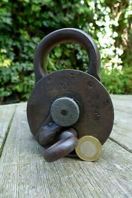 Antique Padlock with one key F.Sengpiel working order Made in Germany No.8 5