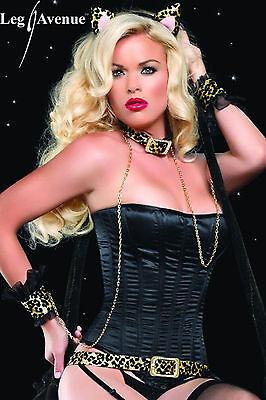 Sexy Leopardo Costume Gatta Orecchie Collare Polsini Cinta  Wild Cat Leg Avenue 3