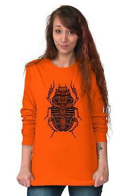 Ancient Egyptian Scarab Beetle Shirt Spirit Animal Cool Gift Long Sleeve Tee 3