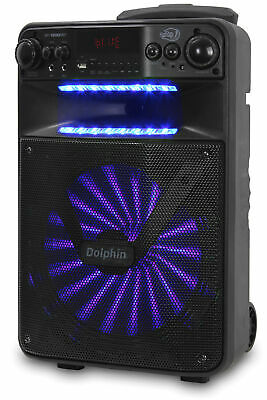 """Dolphin 2500W Rechargeable 12"""" Portable Bluetooth Speaker with LED's SP-1200RBT 7"""