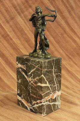 Dios Libro Extremo Escultura Estatua Mythical Figura Regalo Apollo de Bronce T 12