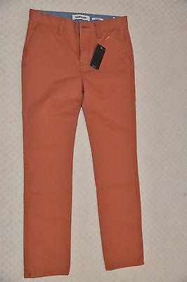 New Quiksilver Boys Straight Pants Trouser Chinos Burnt Sienna EQBNP03038 14 Yrs 2