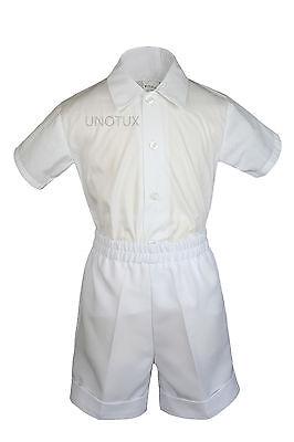 026340a7b45f BABY BOYS TODDLER Formal Vest Shorts Suit Satin Vest Bow Tie 5pc ...