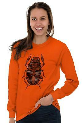 Ancient Egyptian Scarab Beetle Shirt Spirit Animal Cool Gift Long Sleeve Tee 5