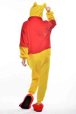 Unisex Adult Winnie The Pooh Flannel Onesie11 Cosplay Costume Kigurumi Pajamas* 8