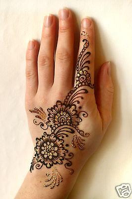 Henna Tattoo Gift Set Mehndi Kit Gold Glitter Many Designs