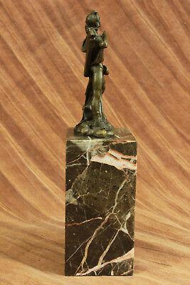 Dios Libro Extremo Escultura Estatua Mythical Figura Regalo Apollo de Bronce T 6