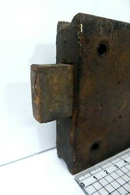Unusual Antique Double Sided Victorian Door Rim Lock  Key Only Pad 3