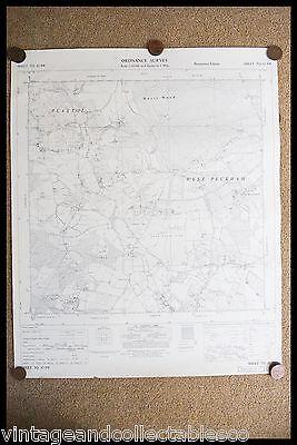 Vintage Ordnance Survey Sheet Map Tq 65 South West Kent 1961 2