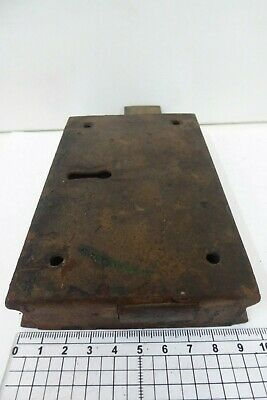 Unusual Antique Double Sided Victorian Door Rim Lock  Key Only Pad 9