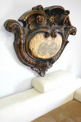 Grand 4' Signed Architectural Piece Hollywood Regency Curves Hangs Up