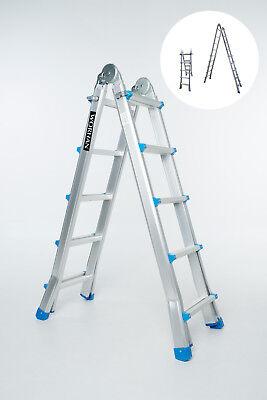 Teleskopleiter Leiter 5,3m Anlegeleiter Klappleiter Multifunktionsleiter L5