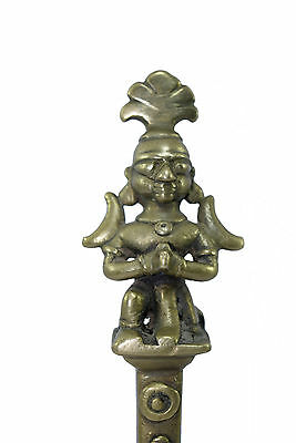 Rare Unique Indian God Figure Brass Handcrafted Temple Bell. G70-233 AU 5