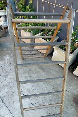 Vintage Gymnasium Wooden A-Frame Climbing Ladder Globe Sporting Play Equipment 5