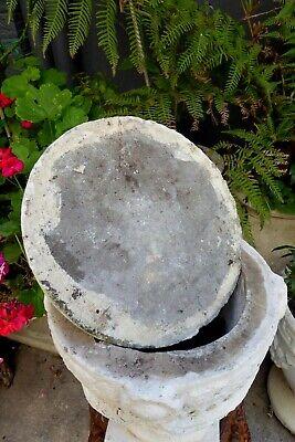 Vintage Concrete Lidded Garden Urn Post Topper Ornate Neoclassical Corinthian 4