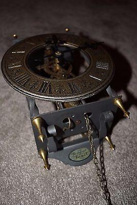 Tempus Fugit 8 Day Clock West Germany Weight-Driven Pendulum Brass Plates 6/3620 5