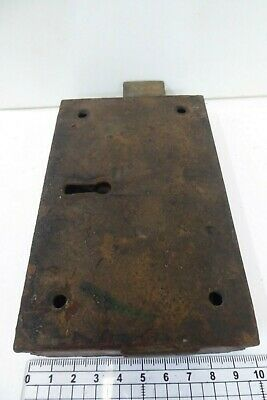 Unusual Antique Double Sided Victorian Door Rim Lock  Key Only Pad 10