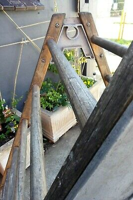 Vintage Gymnasium Wooden A-Frame Climbing Ladder Globe Sporting Play Equipment 4