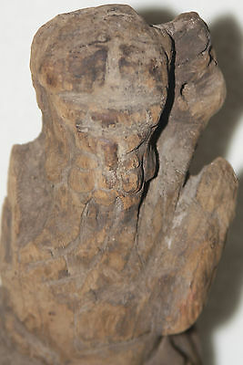 Rare Chinese Ming Dynasty 14th-15th Century Zhang Guo Lao Wood Figure 7