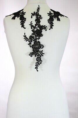 2 x Floral lace Applique / decorative sewing lace motifs 11 different colours #1 5