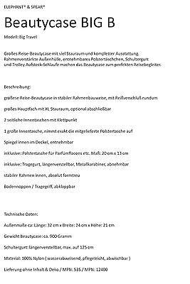 Beautycase BIG B Spear Elephant Beauty Case Schminkkoffer Kulturtasche 535 Wahl