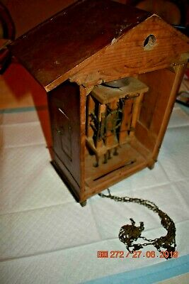 Antique/Vintage Mantle Cuckoo clock for project or parts 7