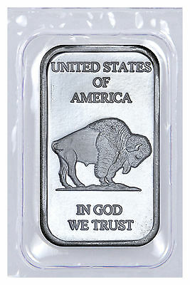 1 oz .999 Fine Silver Buffalo Liberty Bar (Sealed in Plastic) SKU40117 2
