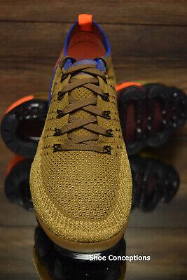 Nike Air Vapormax Flyknit 2 Running Shoes Golden Beige 942842-203 Men's NEW 6