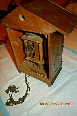 Antique/Vintage Mantle Cuckoo clock for project or parts 6