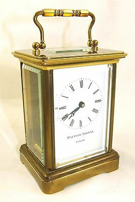Wonderful Swiss Brass Carriage Clock : MATTHEW NORMAN LONDON SWISS MADE 2 • EUR 410,33
