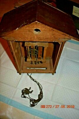 Antique/Vintage Mantle Cuckoo clock for project or parts 8