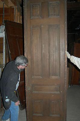 Antique Eight Panel Oak Pocket Door Vintage Home Decor Architectural Salvage 4