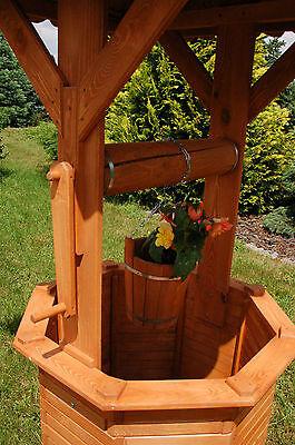 Xxl Zierbrunnen Holzbrunnen Brunnen Holz Garten 215m Dach110 X 1