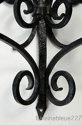Old French Provence Wrought Iron Gothic Medieval Sconce Castle Candleholder 8