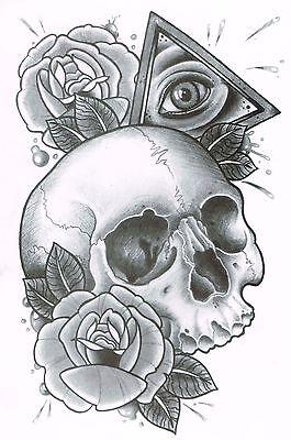 Tattoo vorlagen männer totenkopf