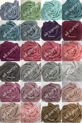High Quality Plain Chiffon Hijab Scarf Shawl Wrap Soft Georgette  Dubai Elegant 3