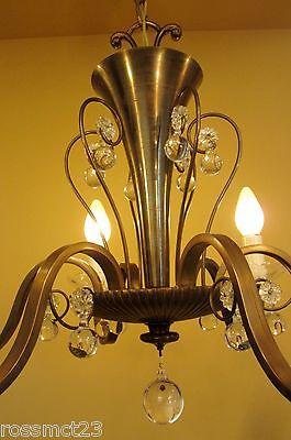 Vintage Lighting circa 1950 Mid Century quality chandelier 5