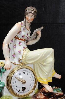 Rare Vienna Porcelain Boudoir Clock C1880 5