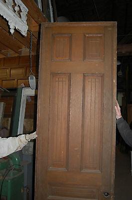 Antique Eight Panel Oak Pocket Door Vintage Home Decor Architectural Salvage 3
