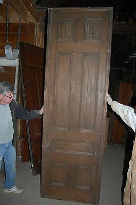 Antique Eight Panel Oak Pocket Door Vintage Home Decor Architectural Salvage 5