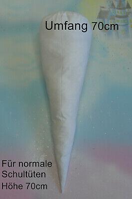 Schultüte Innenkissen aus Stoff 70 cm Inlett Handarbeit Faserbälchen waschbar