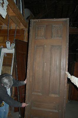 Antique Eight Panel Oak Pocket Door Vintage Home Decor Architectural Salvage 7