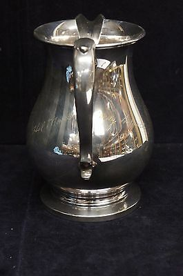 Beautiful Vintage Signed & Marked Silverplate Water Pitcher Serving Formal 4
